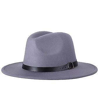 Winter Autumn Imitation Woolen, Fedoras Top Hats And Jazz, Round Caps/bowler