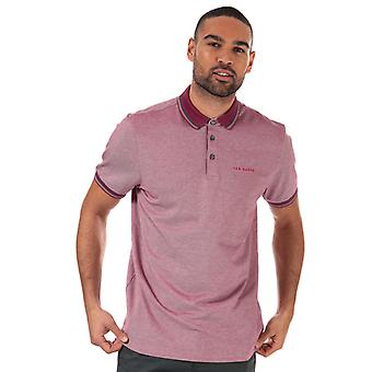 Men's Ted Baker Handie Oxford Polo Shirt in Pink