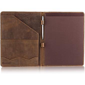 Leather Portfolio Professional A4 Padfolio - Document and CV Folder
