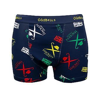 Hackett Mens Boxer Shorts Oddballs All Over Print Pants HMUI0424 595