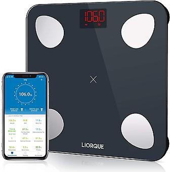 LIORQUE Smart Body Fat Scale with iOS/Android App, 180kg/400lb, (Battery Included)