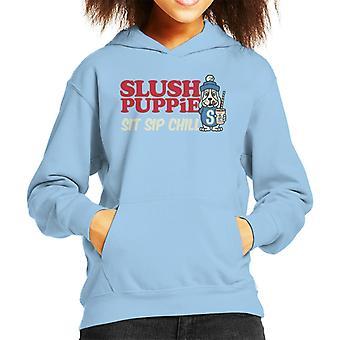 Slush Puppie Sit Sip Chill Kid's Hooded Sweatshirt