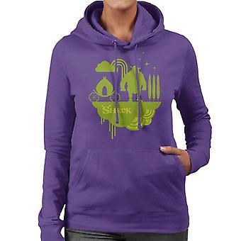 Shrek Silhouette Naisten'Huppari