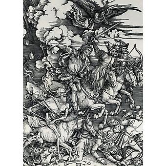 Four Horsemen Albrecht Dürers 1471-1528 tyske plakat Print