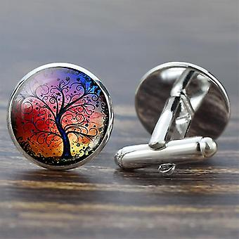 Tree Of Life Cufflinks, Best Cuff Links Set Wedding Suit Shirt Hommes & s