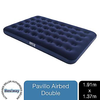Pavillo Flocked Blow up Inflatable Airbed Camping Mattress 191 x 137 x 22cm