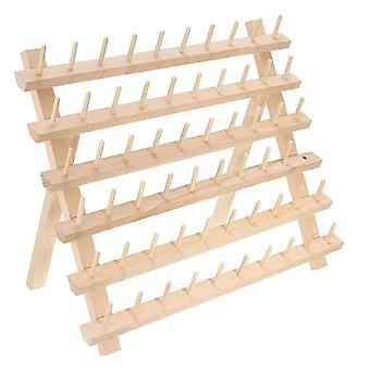60 Bobine Thread Rack Foldable Wood Holds Organizator Wall Mount Broderie