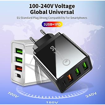 4- Port USB Plug Fast Quick Charge QC3.0 Wall Charger Adapter