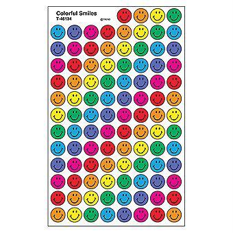 Autocollants colorés de superspotes de sourires, 800 Ct