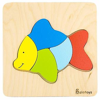 "Alatoys Wooden  Puzzles ""Fish"""