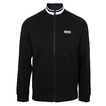 Barbour international men's black radius zipped sweatshirt