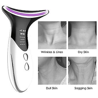 Remove double chin neck device led photon heating therapy anti-wrinkle neck care tool vibration skin lifting tightening massager