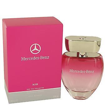 Mercedes-Benz Rose Eau De Toilette Spray von Mercedes-Benz 3 oz Eau De Toilette Spray