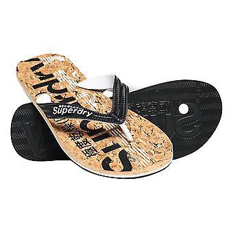 Superdry Cork Flip Flops - Black