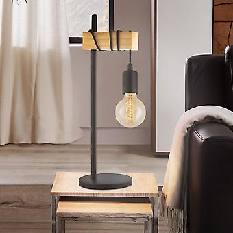 Eglo Townshend lámpara de mesa en roble negro y natural