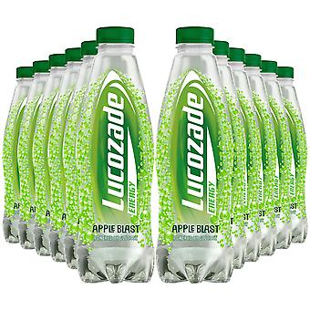12 Pack of 900ml Lucozade Refreshing Energy Apple Sparkling Drink with Sugars