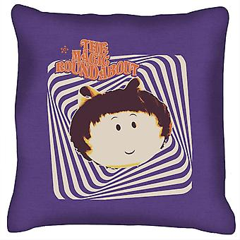 The Magic Roundabout Margote Monochrome Ray Lines Cushion