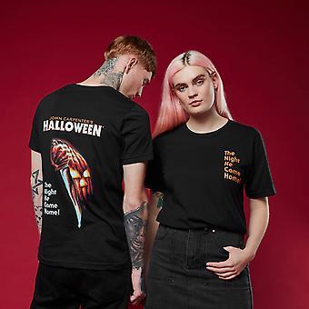 Halloween Unisex Merchandise Short Sleeve T-Shirt Tee Top - Black