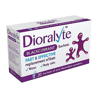 2x Dioralyte Rehydration Supplement Fast & Effective 20x24g Blackcurrant Sachets
