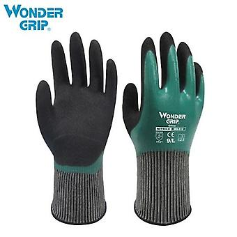 Wonder Grip Thermo Plus Coldproof Work Gloves Double Layer Latex Coated Oil Resistance Gardening Fishing Working Gloves