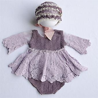 Photography Props, Baby Lace Romper Bodysuits