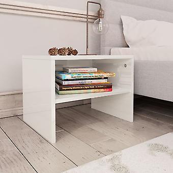 vidaXL Bedside Table High Gloss White 40 x 30 x 30 cm Chipboard