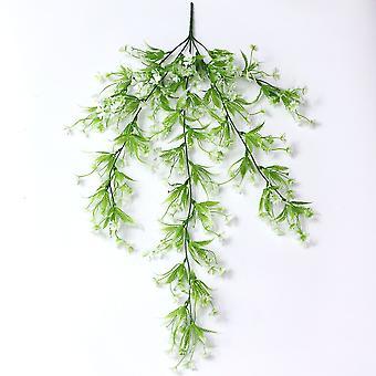 Künstliche Pflanze Pflaume Rattan Kunststoff gefälschte grüne Pflanzen 3pcs