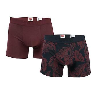 Men's Levis Premium 2 Pack Boxer Shorts in Red