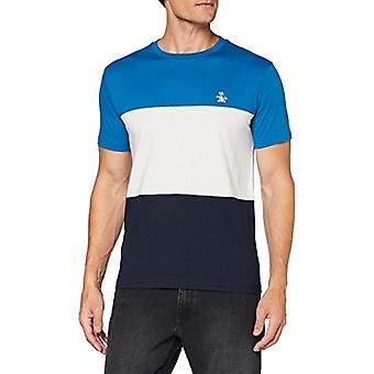 ORIGINAL PENGUIN Colour Block Tee T-Shirt, Blue Sapphire 978, XXL Men's