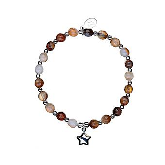 Safe Travels Chunky Stacking Bracelet - 17.5cm - Silver - Jewellery Gifts for Women from Lu Bella