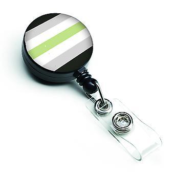 Carolines Treasures  CK8010BR Agender Pride Retractable Badge Reel