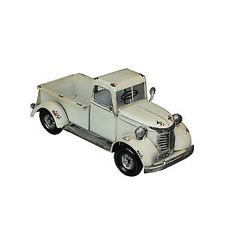 Rustic White Antique Pickup Truck Vintage Planter Indoor Outdoor Retro Decor