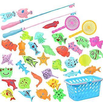 Børn's Fiskeri Legetøj Pool Sæt Plastic Magnetisk Fiskeri Pond Legetøj