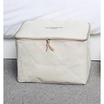 Thick Canvas Fabric Clothes Quilt Storage Bag Bedroom Closet Organizer|Foldable Storage Bags