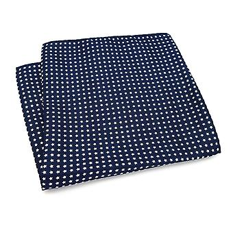 Tummansininen & Valkoinen tähti suuri 33cm Hanky tasku neliö