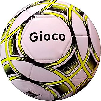Gioco Unisex-Youth Football, White/Yellow, 5