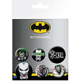 DC Comics Joker Ross-merker (pakke med 6)