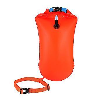 1шт Открытая вода Плавание Поплавок Ультралегкий Безопасный плавательный мешок для пловцов Триатлеты Снорклеры Серферы (оранжевый)