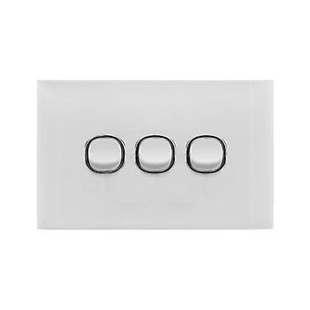 Doss Acrylic 3 Gang Switch Plate