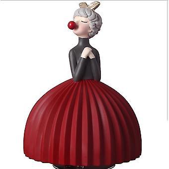 Bubble Girl Decoratie Slaapkamer Kamer Muziekdoos Muziekdoos Schattige Decoratie Meisje (Rood)
