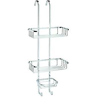 Croydex Stainless Steel Over-Hook 3 Tier Basket Shower Caddy - QM394341