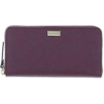 Kate Spade Neda Laurel Burgundy Leather Wallet Ziparound WLRU2669