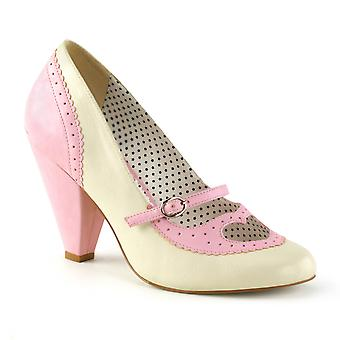 Pin Women's Shoes Up B. Pink-Cream Faux Leather