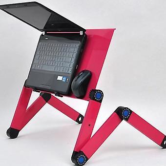 Laptop Stand Computer Desk Computer Table Folding  Mesa Plegable Ordenador Table Laptop Desks(Pink)