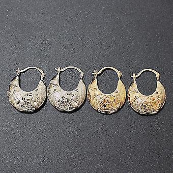 Women Fashion Gold Hoop Earrings