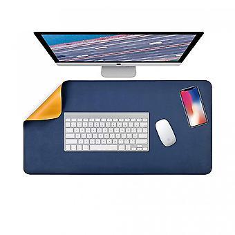 Almohadilla para computadora portátil de doble cara, almohadilla de escritorio multifuncional para teclado y mouse de 80 x 40 cm, alfombrilla de mouse impermeable Pu Leather para oficina y hogar