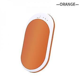 Rechargeable Hand Warmer 5200mah Mobile Power Bank Portable Usb Heater(Organge)