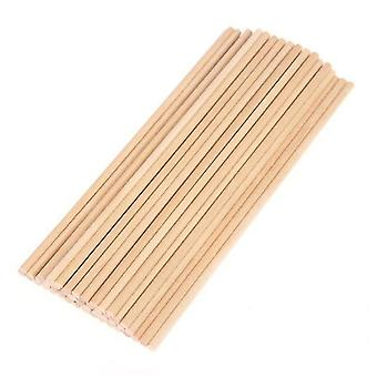 Round Wooden Stick For Food Ice Lollies And Model Making Cake