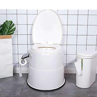 Femme enceinte et siège handicapé de toilette