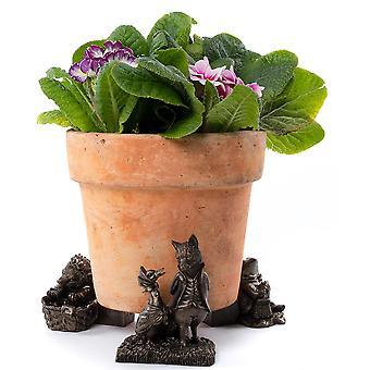 Potty Feet Beatrix Potter Jemima Puddle-duck Plant Pot Feet Bronze Color 3pc